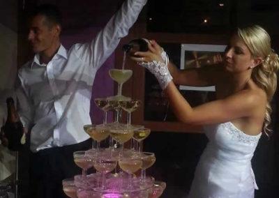Organisation de mariage a St Vulbas - fontaine de champagne 1