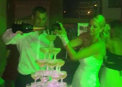 Organisation de mariage a St Vulbas - fontaine de champagne 2