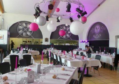 Organisation de mariage a St Vulbas - organisation salle 2