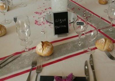 Organisation de mariage a St Vulbas - tables