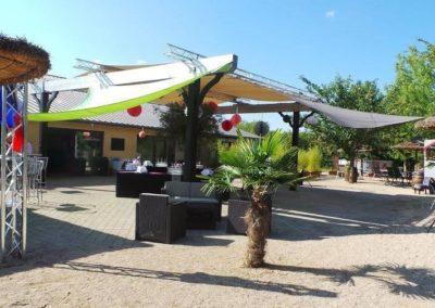 Organisation de mariage a St Vulbas - terrasse palmier